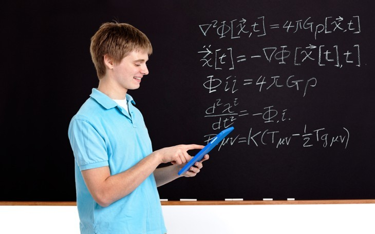 tablet student and math